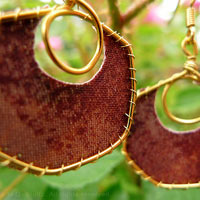Camaleonia Textile Earrings
