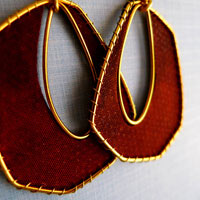 Farfalla Textile Earrings