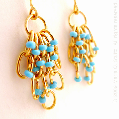Marien. Chandelier Earrings
