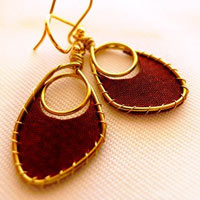 Nina Textile Earrings