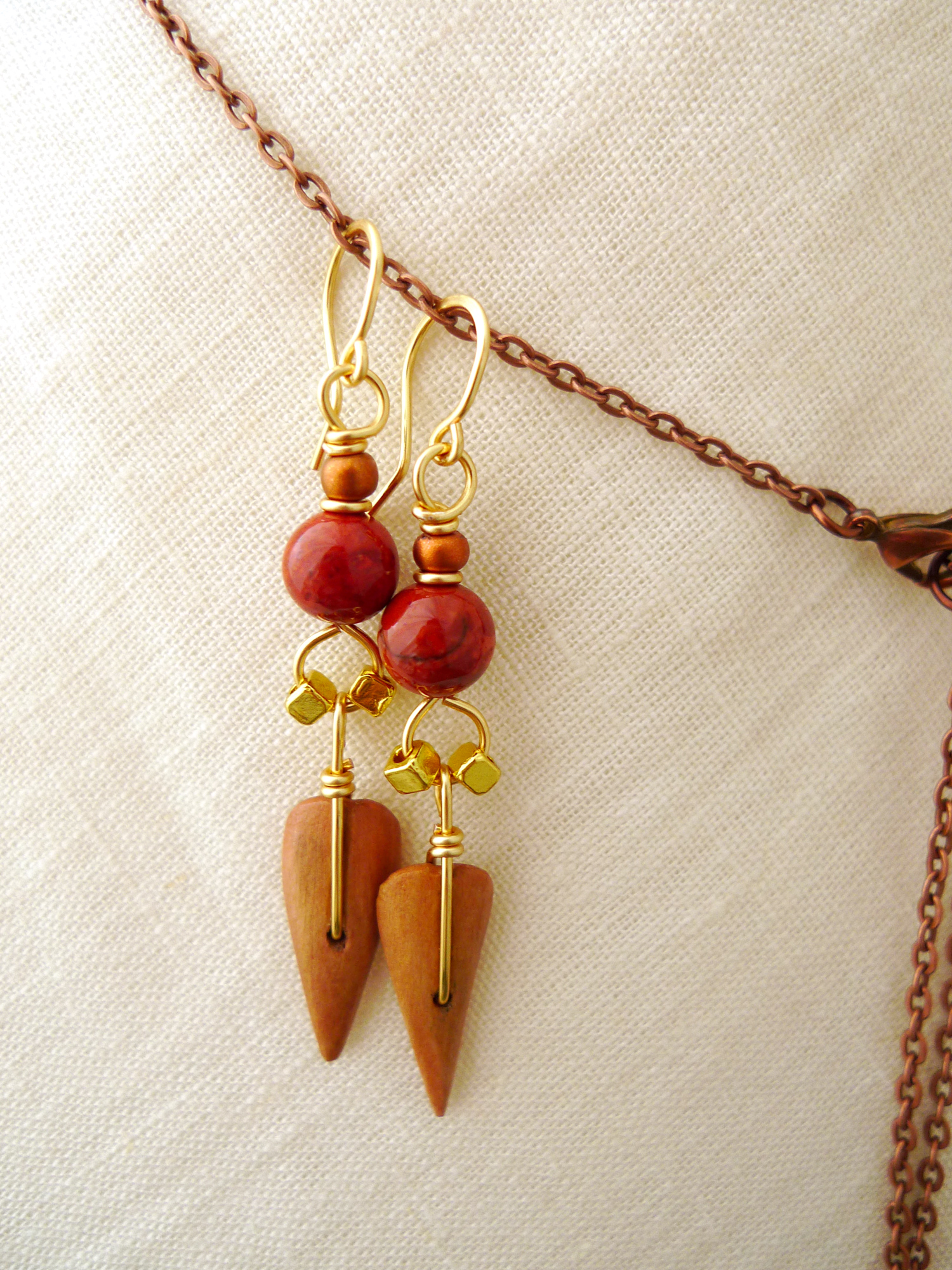 Terra. Dangling Arrow Earrings