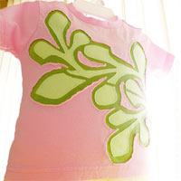 Citrus Pink. Applique T-Shirt