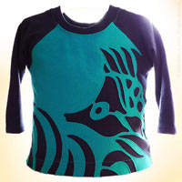 Biggest Fish in the Pond. OOAK Toddler Applique Raglan