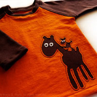 Nacho and Pepe. OOAK Toddler Applique Raglan