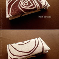 Cocoa Mod Rosette Card Holder Wallet