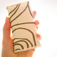 Khaki Spirals Card Holder Wallet