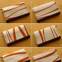 Calligraphy Strokes Card Holder Wallet