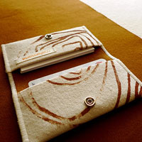 Sienna Spirals Card Holder Wallet